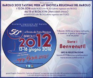 Barolo 2012 Tasting Week all'Enoteca regionale del Barolo