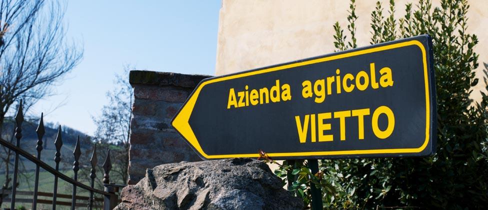 Contatti cascina azienda agricola  Vietto
